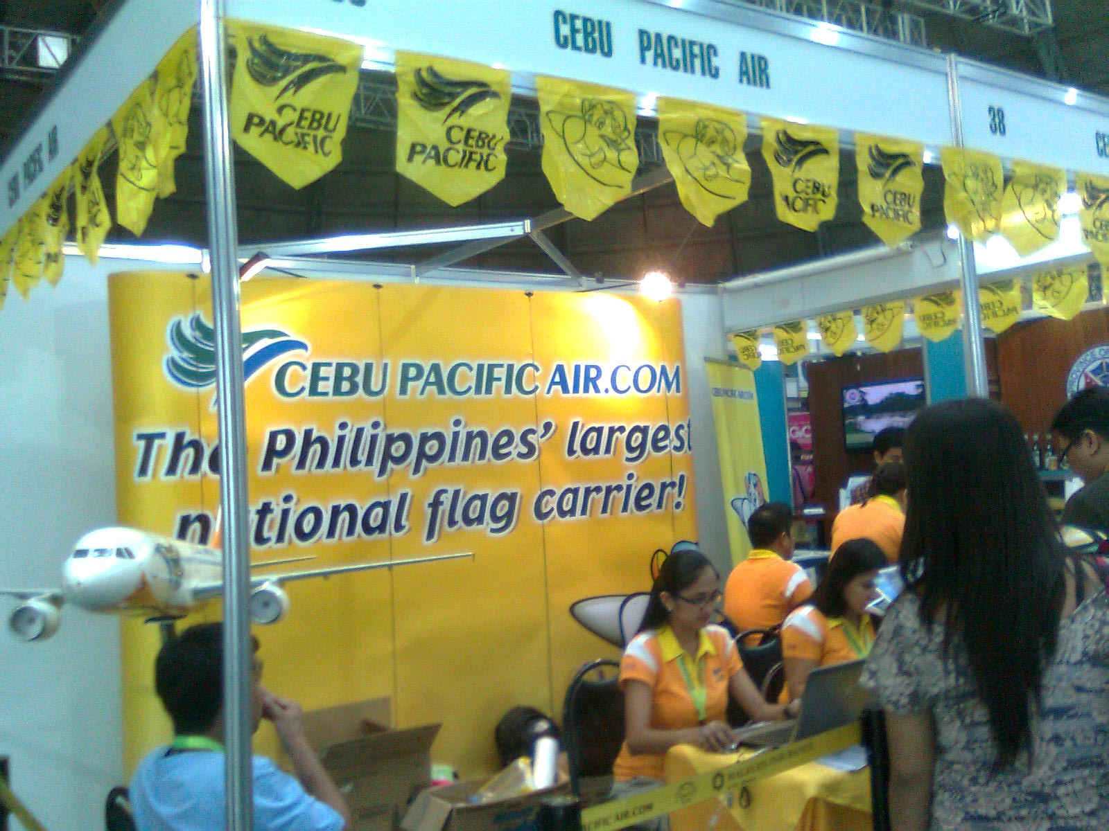 cebu pacific booth