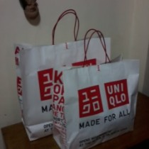 my uniqlo shopping bags