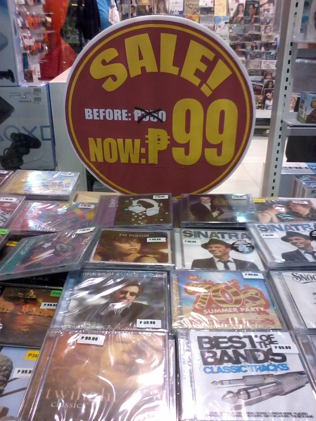 Music CDs at P99