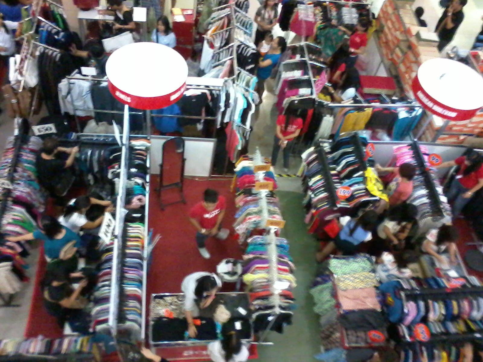 hallways are filled with sale items