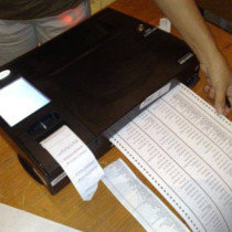 PCOS machine precinct count optical scan