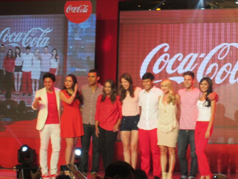 ito na coke mismo glee cast with coke happiness ambassadors