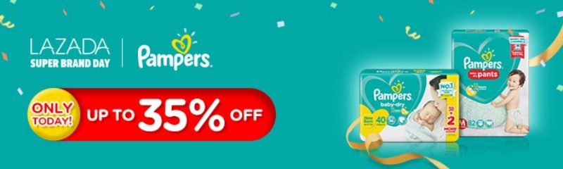 LazadaPH - Pampers sale